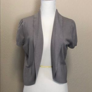 Taupe short sleeve Cardigan